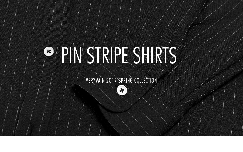 베리베인(VERYVAIN) (마지막재입고) TP95 PIN STRIPE SHIRTS (BLACK)
